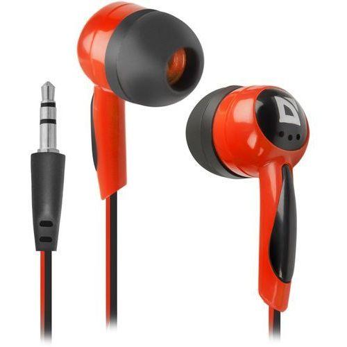 Słuchawki DEFENDER BASIC 604 douszne czarno-czerwone