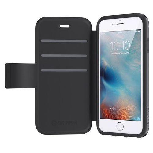 Griffin  survivor adventure wallet - etui z klapką iphone 7 / iphone 6s / iphone 6 z kieszeniami na karty (czarny) darmowa dostawa