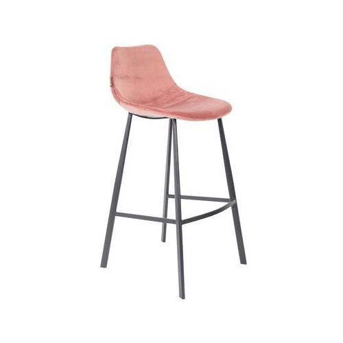 Dutchbone stołek barowy franky różowy 1500069