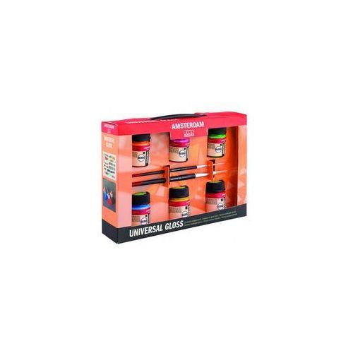 amsterdam universal gloss farby 6kol+2 pędz marki Talens