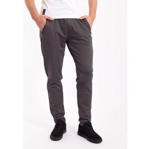 4f Spodnie dresowe męskie spmd004z - ciemny szary melanż