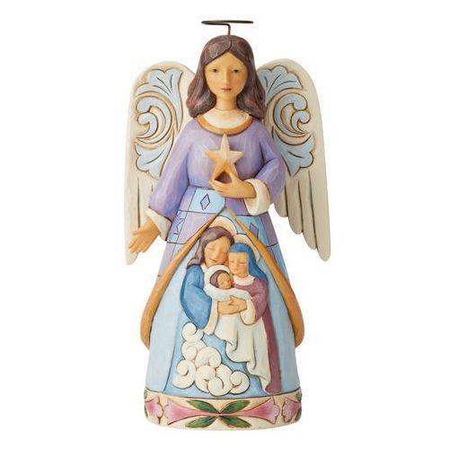 Jim shore Anioł szopka święta rodzina starlit serenity (angel with holy family figurine) 6004245 figurka ozdoba świąteczna gwiazdor