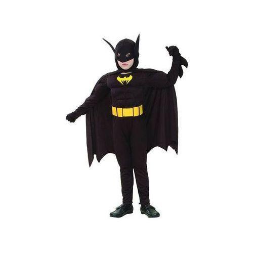 Kostium batman z mięśniami - l - 130/140 cm marki Go