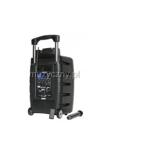 mobivox przenośny system nagłośnieniowy 120w, zasilanie akumulatorowe, wbudowany mikrofon bezprzewodowy, mp3/usb/sd/bluetooth marki Novox