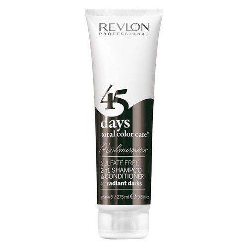 Revlon  revlonissimo 45 days 2in1 for radiant darks 275ml w odżywka do włosów (8432225056449)