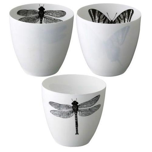 Komplet trzech świeczników z motywem ważki i motyla - Bloomingville