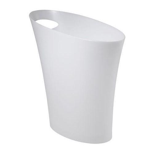 Umbra - skinny kosz na śmieci metaliczny biały