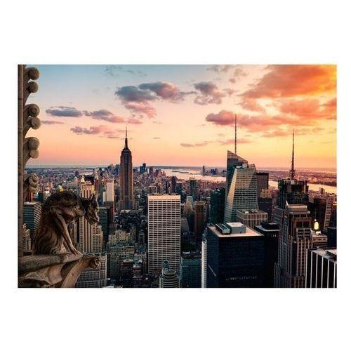 Artgeist Fototapeta - nowy jork: wieżowce i zachód słońca