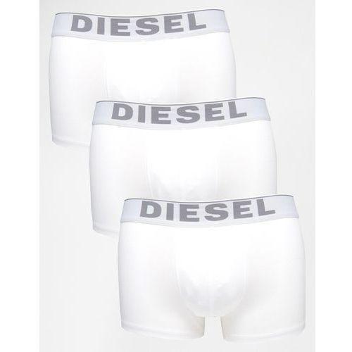 Diesel Cotton Stretch Trunks In 3 Pack - White, kup u jednego z partnerów
