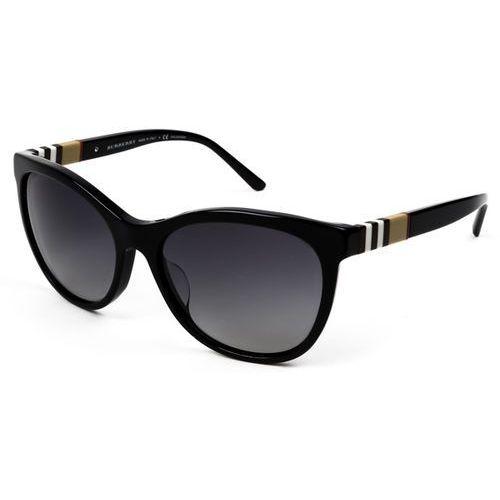 Okulary Słoneczne Burberry BE4199 Check Polarized 3001T3, kolor żółty