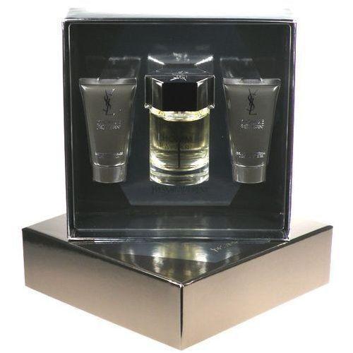 Yves Saint Laurent L Homme M Zestaw perfum Edt 100ml + 50ml Balsam po goleniu + 50ml Żel pod prysznic