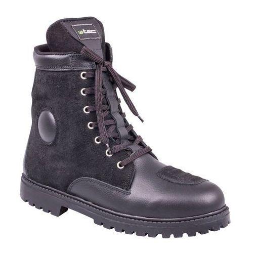 Skórzane buty motocyklowe highlander, czarny, 45 marki W-tec