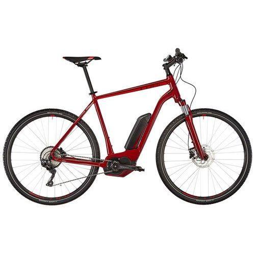 """Cube cross hybrid pro 500 rower elektryczny crossowy czerwony 62cm (28"""") 2018 rowery elektryczne"""