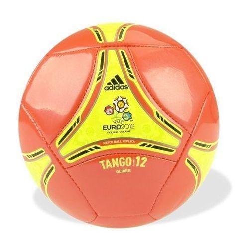 Piłka nożna  tango 12 glider 5 czerwono-żółta - czerwono-żółta ||biały ||czarny marki Adidas