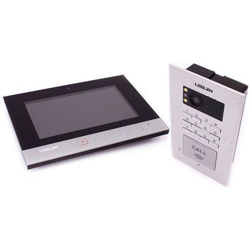 Wideodomofon - 7cali n75b/no18pc+3xbrelok (z czytnikiem) marki Leelen technology