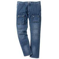 Lekkie dżinsy bojówki regular fit straight niebieski, Bonprix