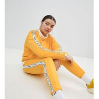 Puma Exclusive To ASOS Plus Taped Side Stripe Track Pants In Yellow - Yellow