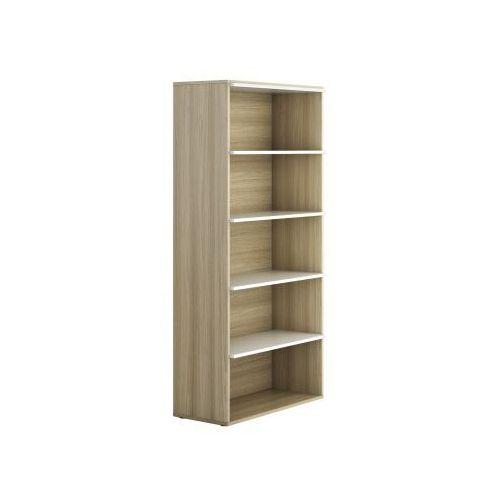 Szafa biurowa wysoka bez drzwi BOARDS Wood, dąb naturalny