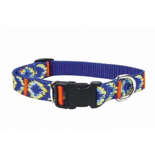 CHABA Obroża taśmowa regulowana ozdobna kolor: niebieski 16mm / 30cm (5905133603546)