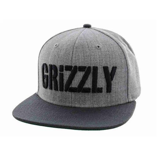 Czapka z daszkiem - grizzly stamp snapback heather grey (heather grey) marki Grizzly