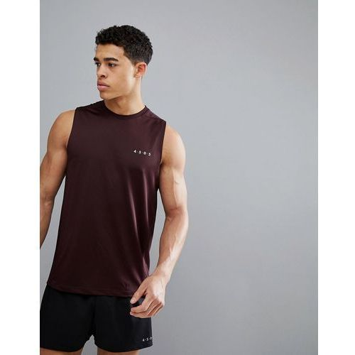 Asos 4505 training sleeveless t-shirt with quick dry in burgundy - red