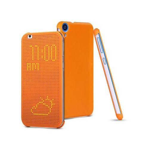 ETUI DO HTC DESIRE 820 FLIP DOT VIEW COVER POMARAŃCZOWE - Pomarańczowy