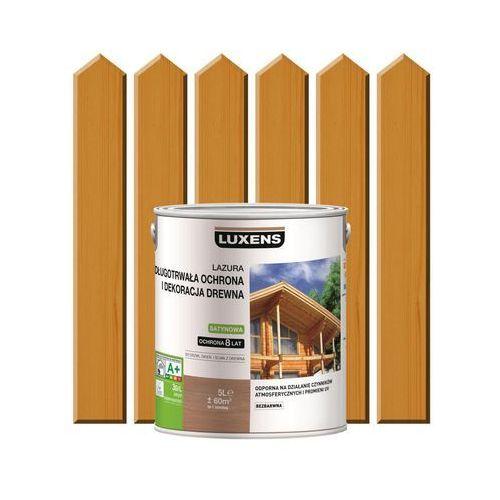 Luxens Lazura do drewna długotrwała ochrona i dekoracja drewna 5 ldąb złocisty (3276006110174)