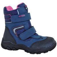 buty zimowe za kostkę dziewczęce nordika 28, niebieski marki Protetika