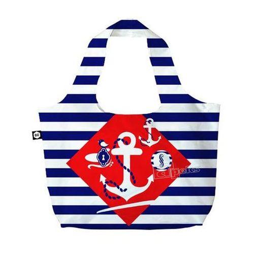 BG Berlin Eco Bags Eco torba na zakupy 3w1 - Navy Sense, kolor wielokolorowy