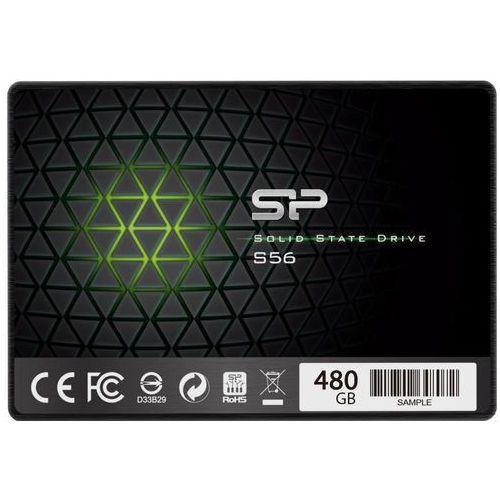 """Silicon power Dysk ssd s56 480gb 2.5"""" (560/530) sata3 7mm 3d tlc (4712702652918)"""
