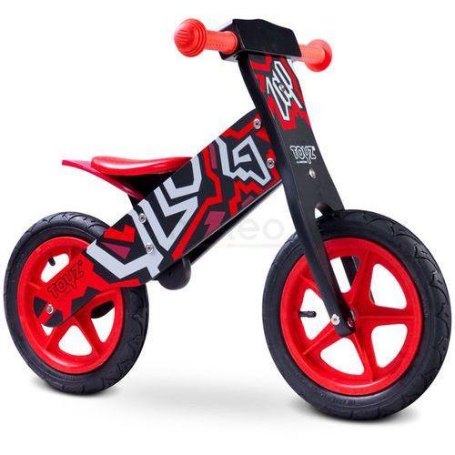 Rowerek biegowy TOYZ Zap Czarno-Czerwony + DARMOWY TRANSPORT! (5902021522651)