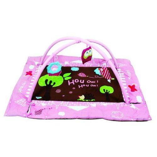 mata dla noworodków - sowa - różowa marki Ludi