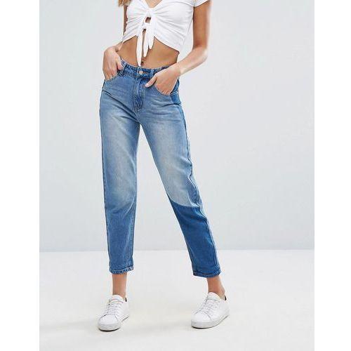 Boohoo Colour Block Mom Jeans - Blue, jeans