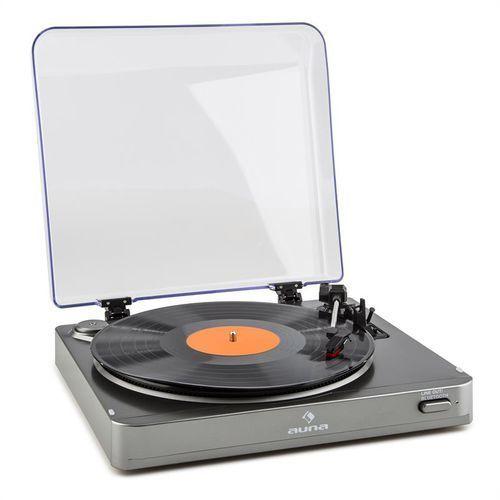 tt-10 bt gramofon nadajnik bluetooth line-out srebrny od producenta Auna