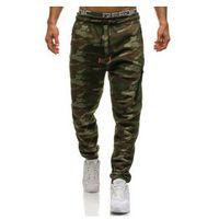 Spodnie męskie dresowe baggy moro-multikolor Denley 3769B, kolor wielokolorowy