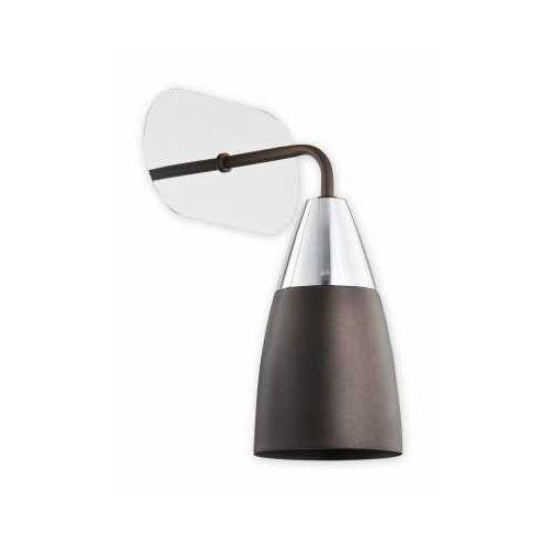 Lemir Estiva O2500 K1 RW kinkiet lampa ścienna 1x60W E27 rdza wenge / chrom (5902082866671)