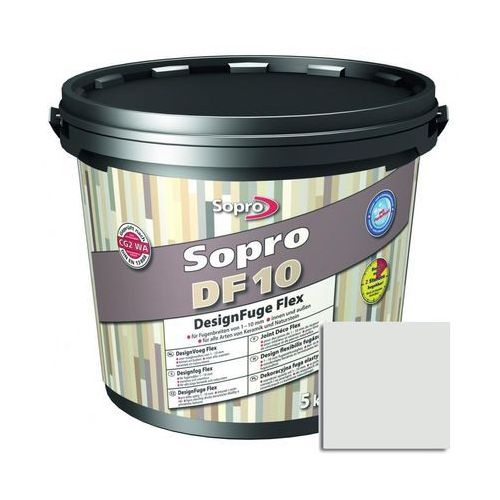 Fuga szeroka Sopro Flex DF10 Design 16 jasny szary 5 kg (5901740105152)