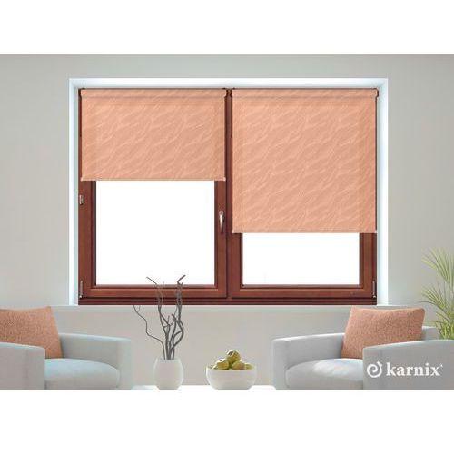 Mini roleta stella aqua (żakardowa) kolor peach mechanizm brązowy marki Karnix