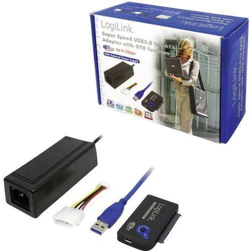 Kabel USB 3.0 dla konwertera SATA LogiLink, wtyk A <=> SATA-Kombi 15+7-pinowy, niebieski (4260113573235)