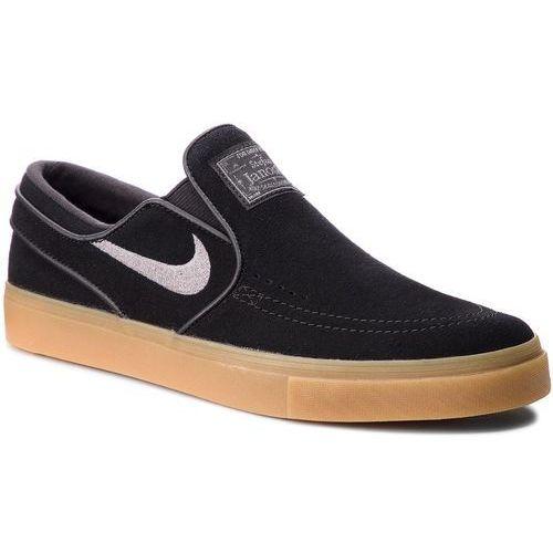 Buty - zoom stefan janoski slip 833564 005 black/gunsmoke gum/gum light brown marki Nike
