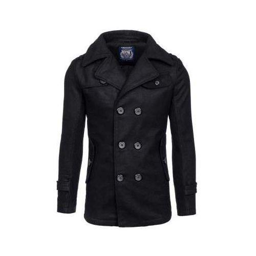 Century Czarny płaszcz męski zimowy denley ex906