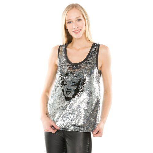 Pepe Jeans Blaire Top Czarny Srebrny XS (8434538059544)