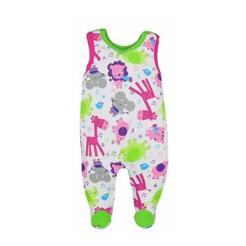 Dziecięcy bawełniane śpiochy Bobas Fashion Zoo zielone dla dziewczynek