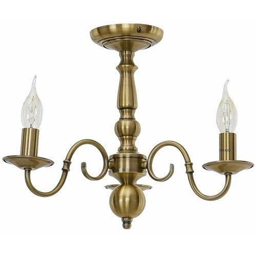 Italux Marion 6594-3X-AB plafon lampa sufitowa 3x40W E14 brązowy