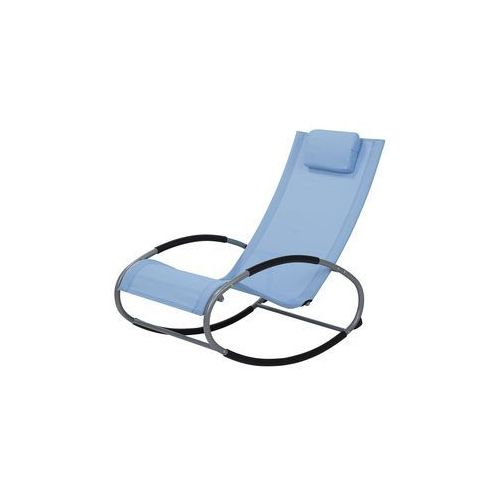 Beliani Fotel ogrodowy bujany niebieski campo