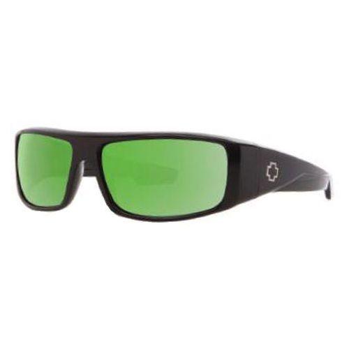Okulary Słoneczne Spy LOGAN Polarized Matte Black-Happy Bronze Polar W/Green Spectra, kolor zielony