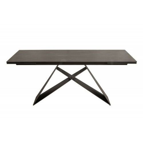 Stół rozkładany PROMETHEUS lava - blat ceramiczny, podstawa metalowa