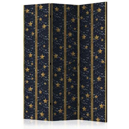 Parawan 3-częściowy - koronkowy gwiazdozbiór [room dividers] marki Artgeist