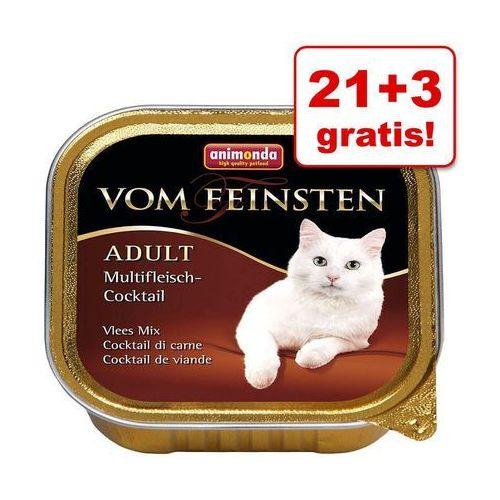 21 + 3 gratis! vom feinsten adult, 24 x 100 g - drób z cielęciną marki Animonda