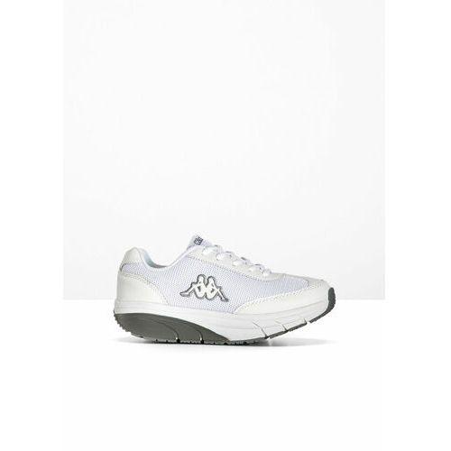 Sneakersy kappa na podeszwie platformie biało-szary marki Bonprix